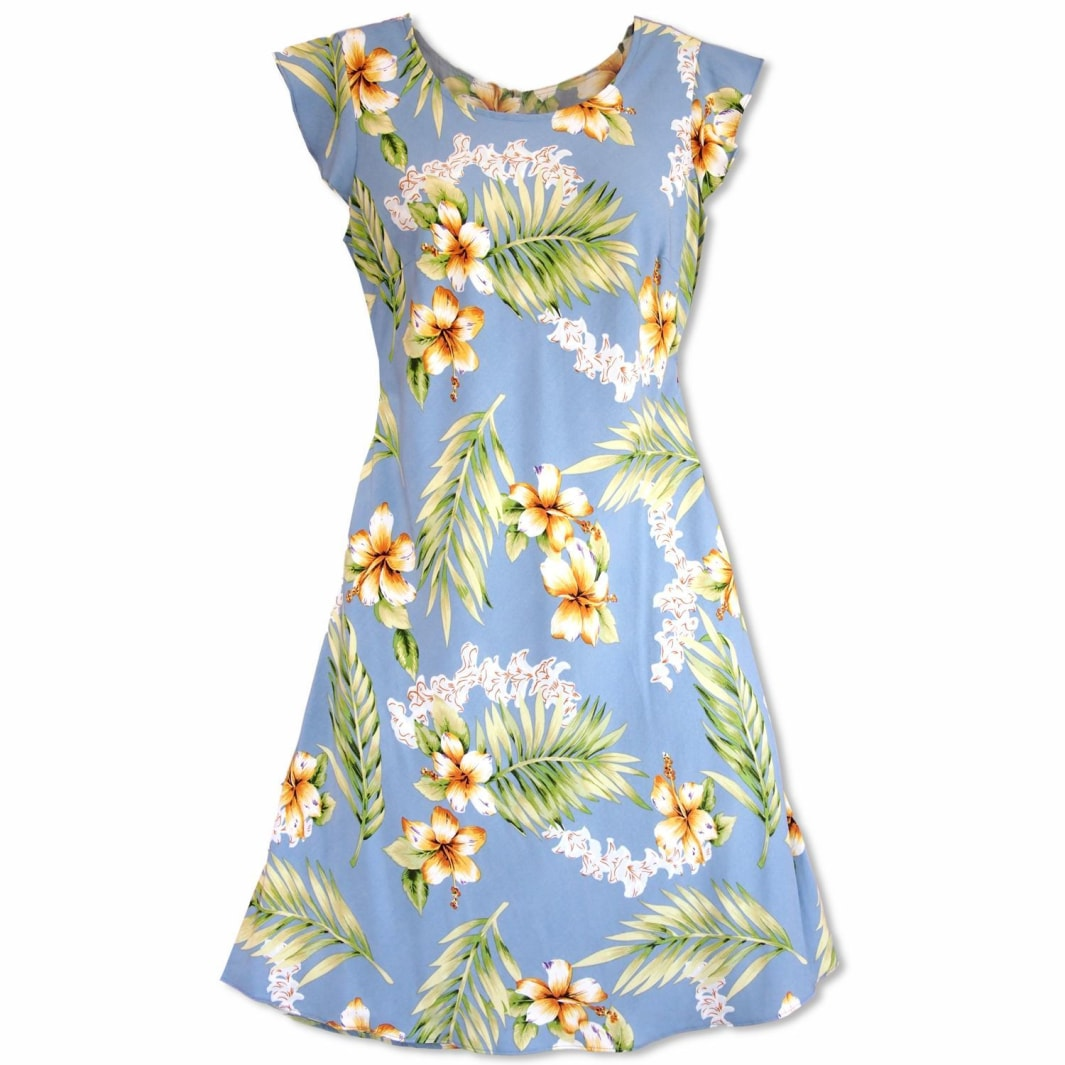 atoll blue hawaiian xoxo short dress | short dress hawaiian