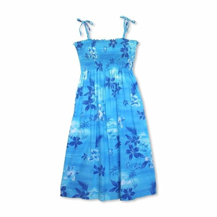 aurora blue hawaiian moonkiss short dress | short dress hawaiian