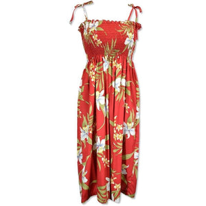 bamboo orchid red hawaiian moonkiss short dress | short dress hawaiian