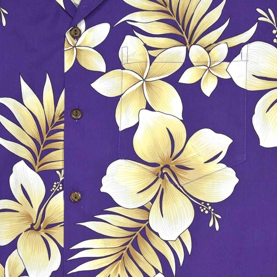 beachcomber purple hawaiian cotton shirt | hawaiian shirt men