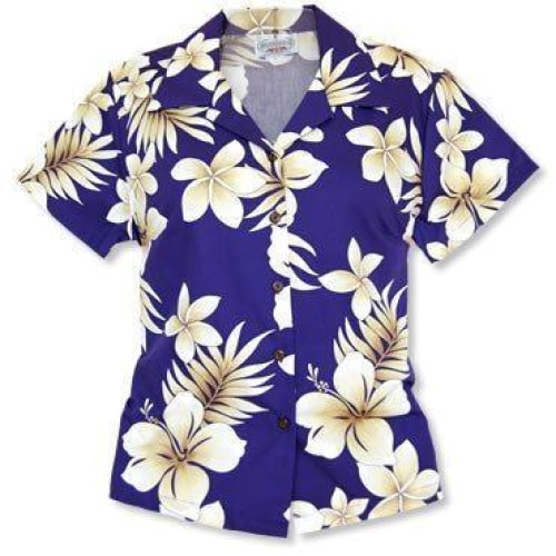 beachcomber purple hawaiian lady blouse | women blouse hawaiian