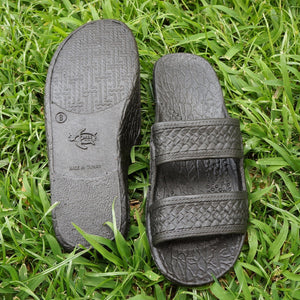 black classic jandals® - pali hawaii Jesus sandals | hawaiian sandals pali hawaii flip flops