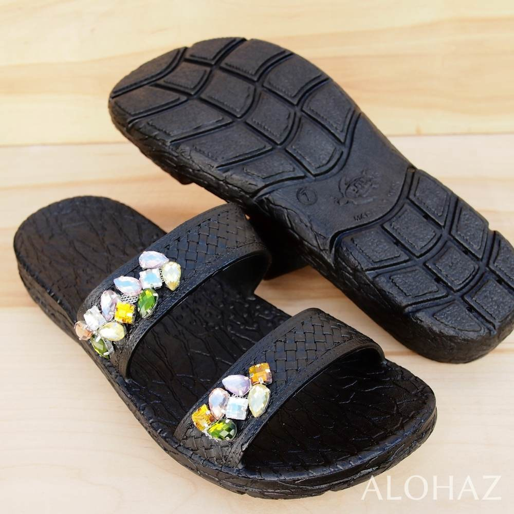 black diva jane jandals® - pali hawaii Jesus sandals | hawaiian sandals pali hawaii flip flops
