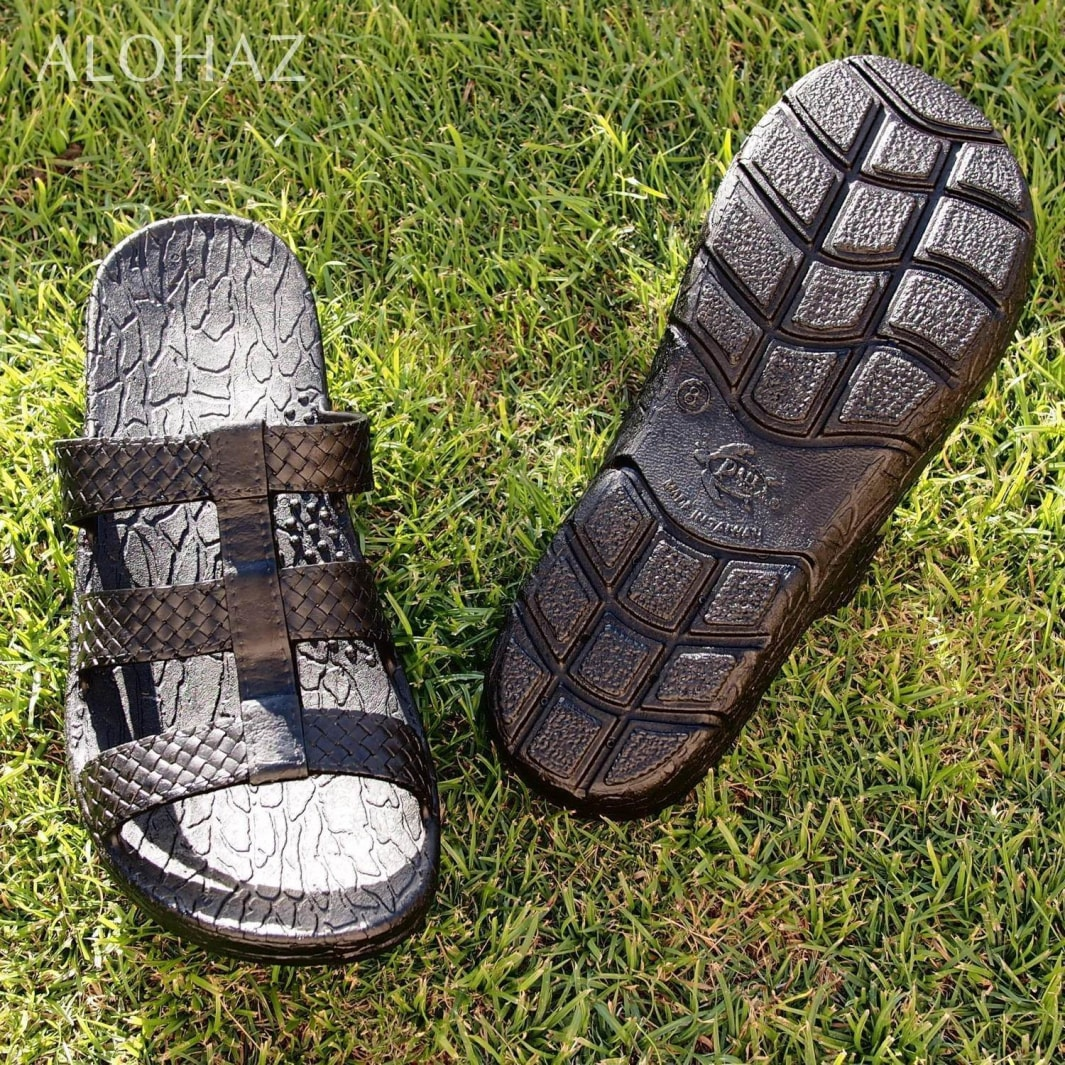 black jaya jandals® - pali hawaii Jesus sandals | hawaiian sandals pali hawaii flip flops