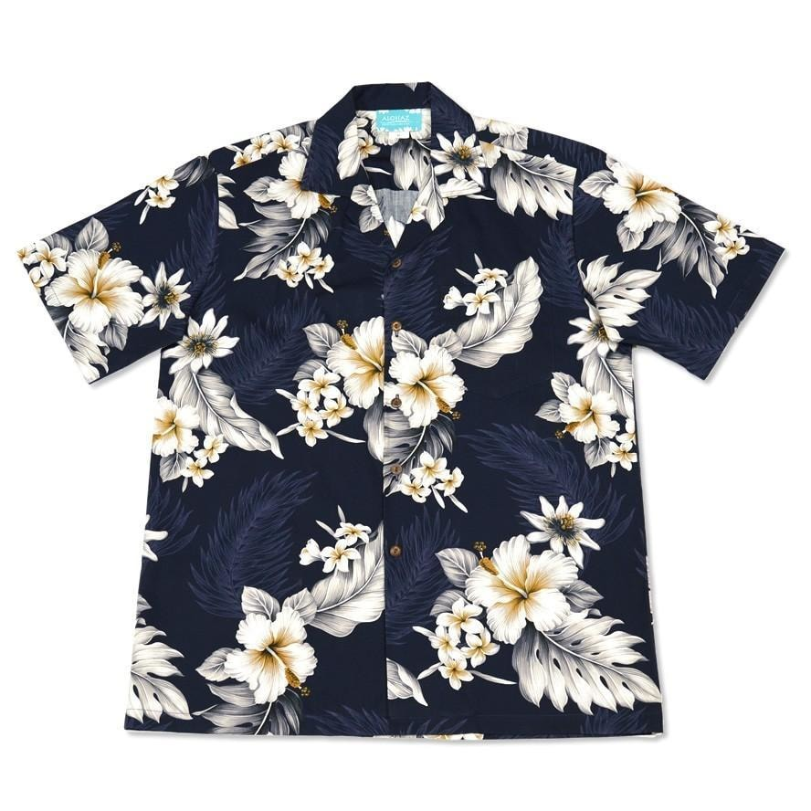 blueberry hawaiian cotton shirt | hawaiian shirt men