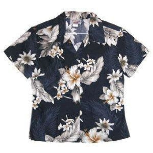 blueberry hawaiian lady blouse | women blouse hawaiian