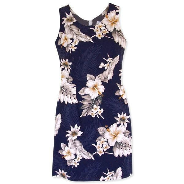 blueberry hawaiian tank dress | short dress hawaiian