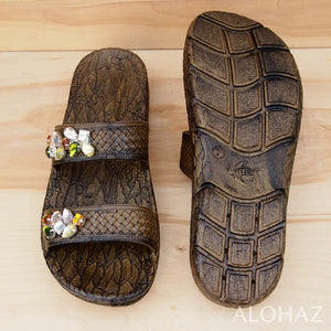 brown diva jane jandals® - pali hawaii Jesus sandals | hawaiian sandals pali hawaii flip flops