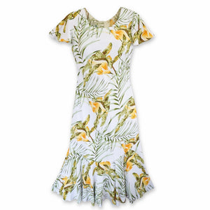 calla white hawaiian malia dress | hawaiian dress midi midlength