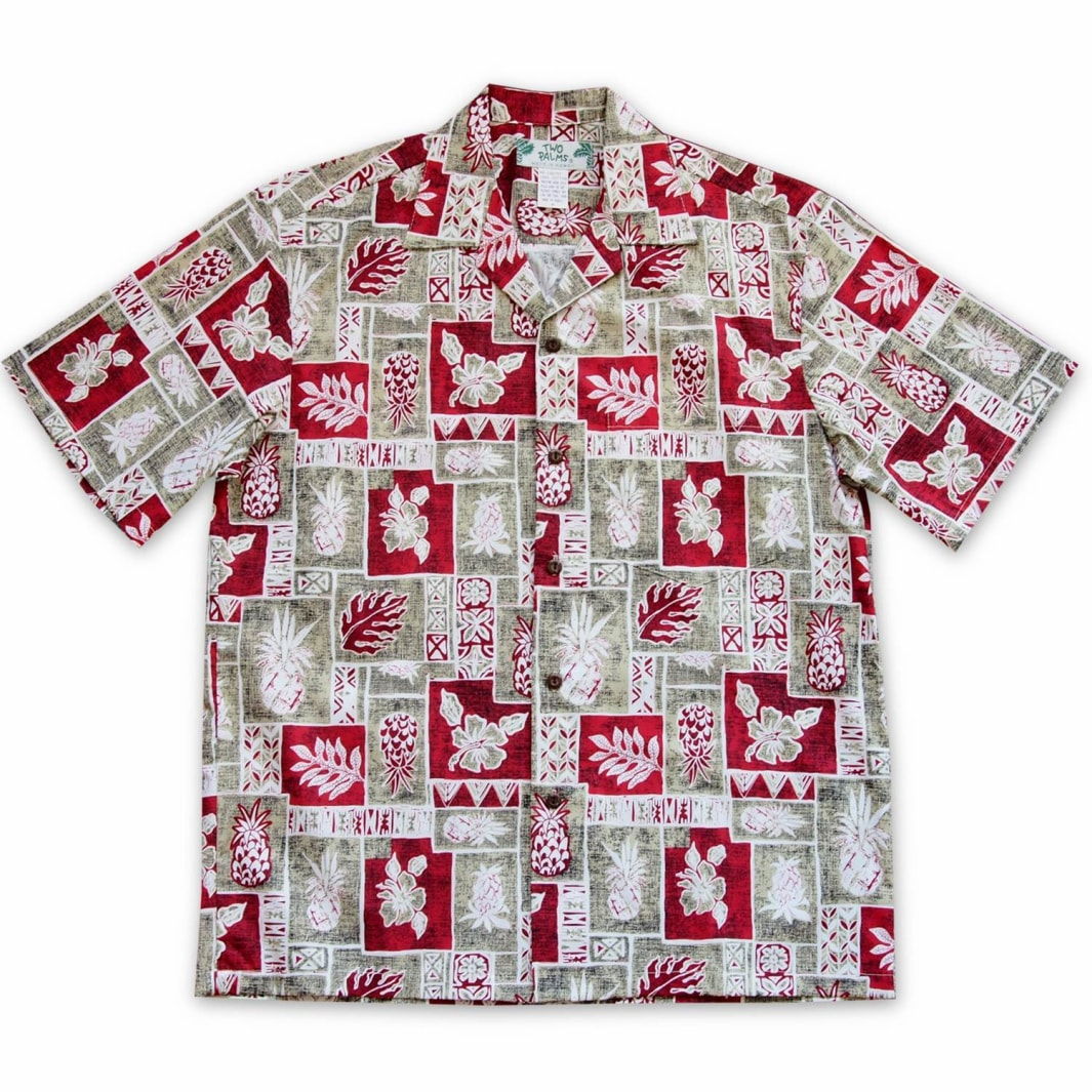 cast away red hawaiian cotton shirt | hawaiian shirt men