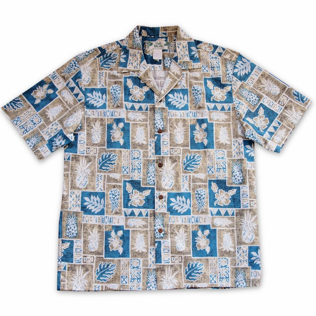 cast away tan hawaiian cotton shirt | hawaiian shirt men