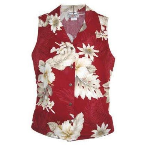 chili hawaiian sleeveless blouse | women blouse hawaiian