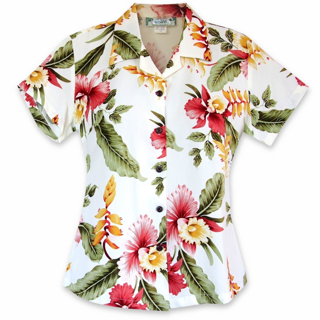 cloud hawaiian lady blouse | women blouse hawaiian