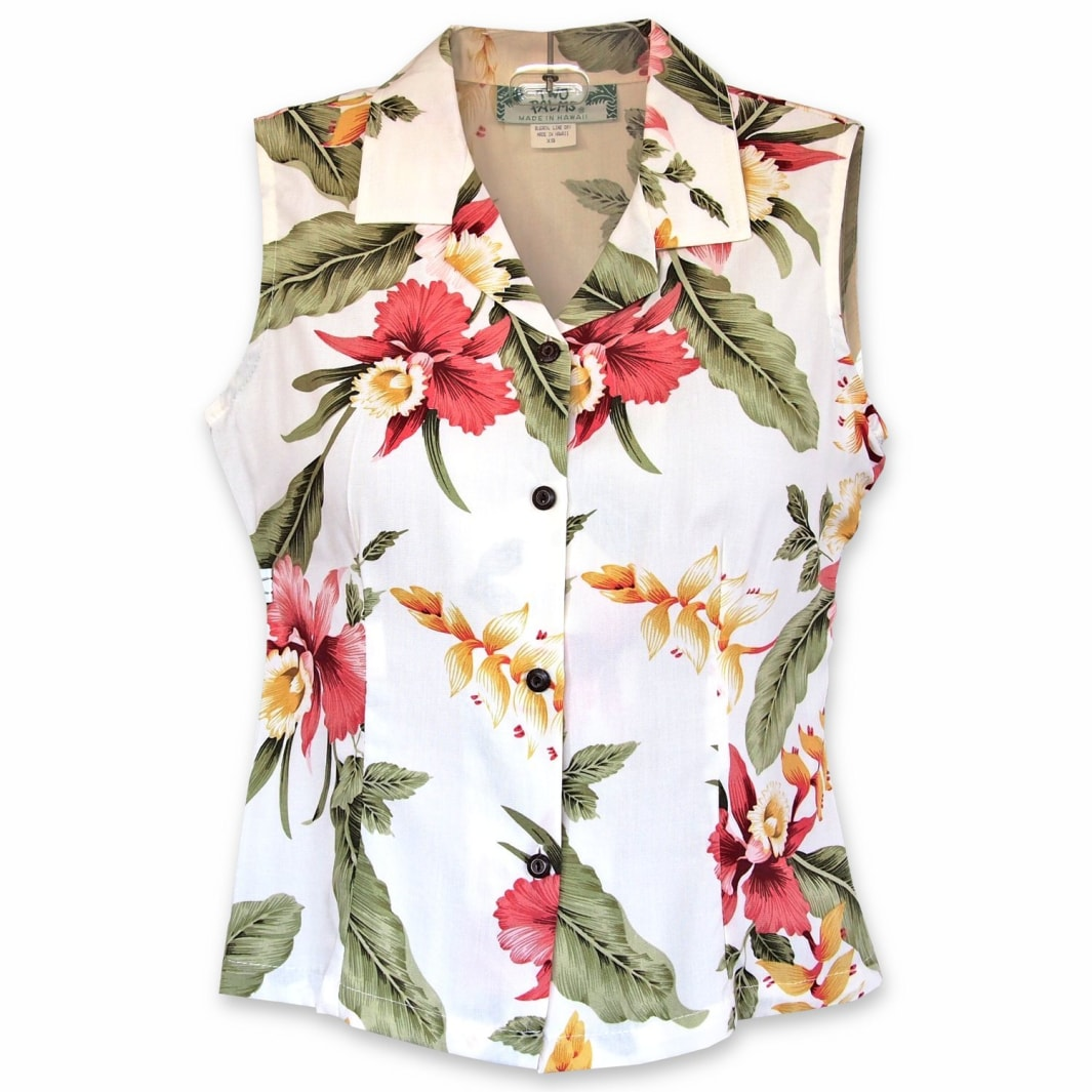 cloud hawaiian sleeveless blouse | women blouse hawaiian