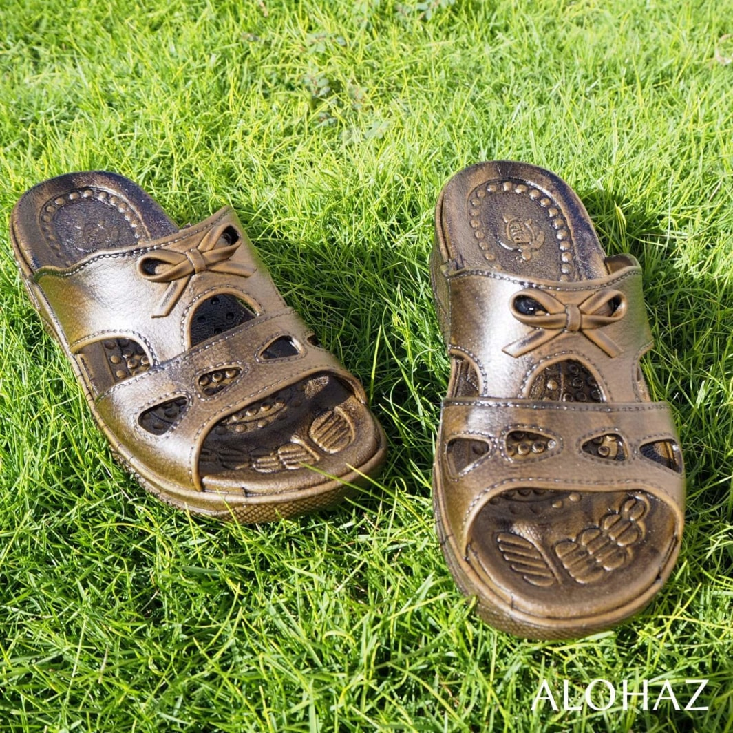 dark brown bow - pali hawaii sandals | hawaiian sandals pali hawaii flip flops