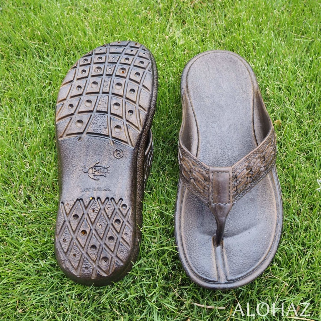 dark brown shaka™ - pali hawaii thongs | hawaiian sandals pali hawaii flip flops