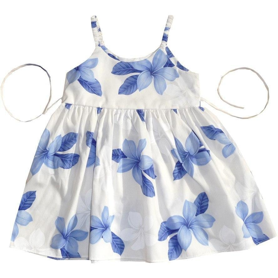 delight blue hawaiian girl sundress | hawaiian girl dress