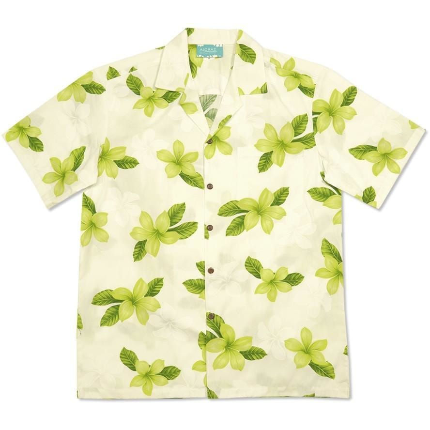delight green hawaiian cotton shirt | hawaiian shirt men