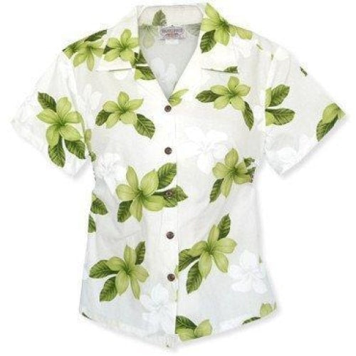 delight green hawaiian lady blouse | women blouse hawaiian