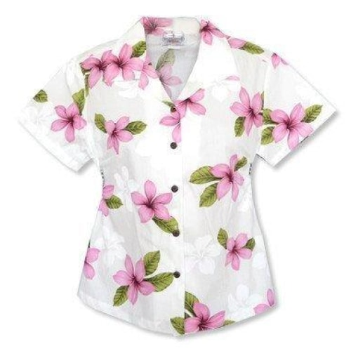 delight pink hawaiian lady blouse | women blouse hawaiian