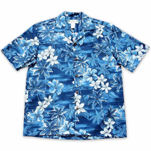 diamond head blue hawaiian cotton shirt | hawaiian shirt men