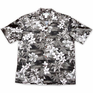 diamond head grey hawaiian cotton shirt | hawaiian shirt men