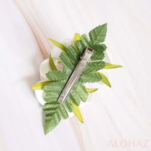Double Joy Plumeria Hawaiian Flower Hair Clip | Hair Accessories