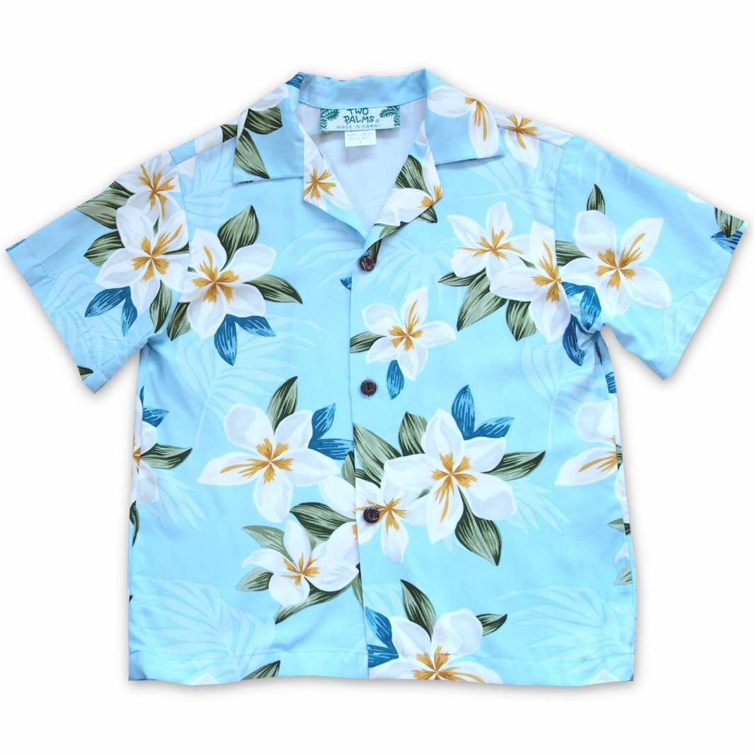 escape blue hawaiian boy shirt | hawaiian boy teen shirt
