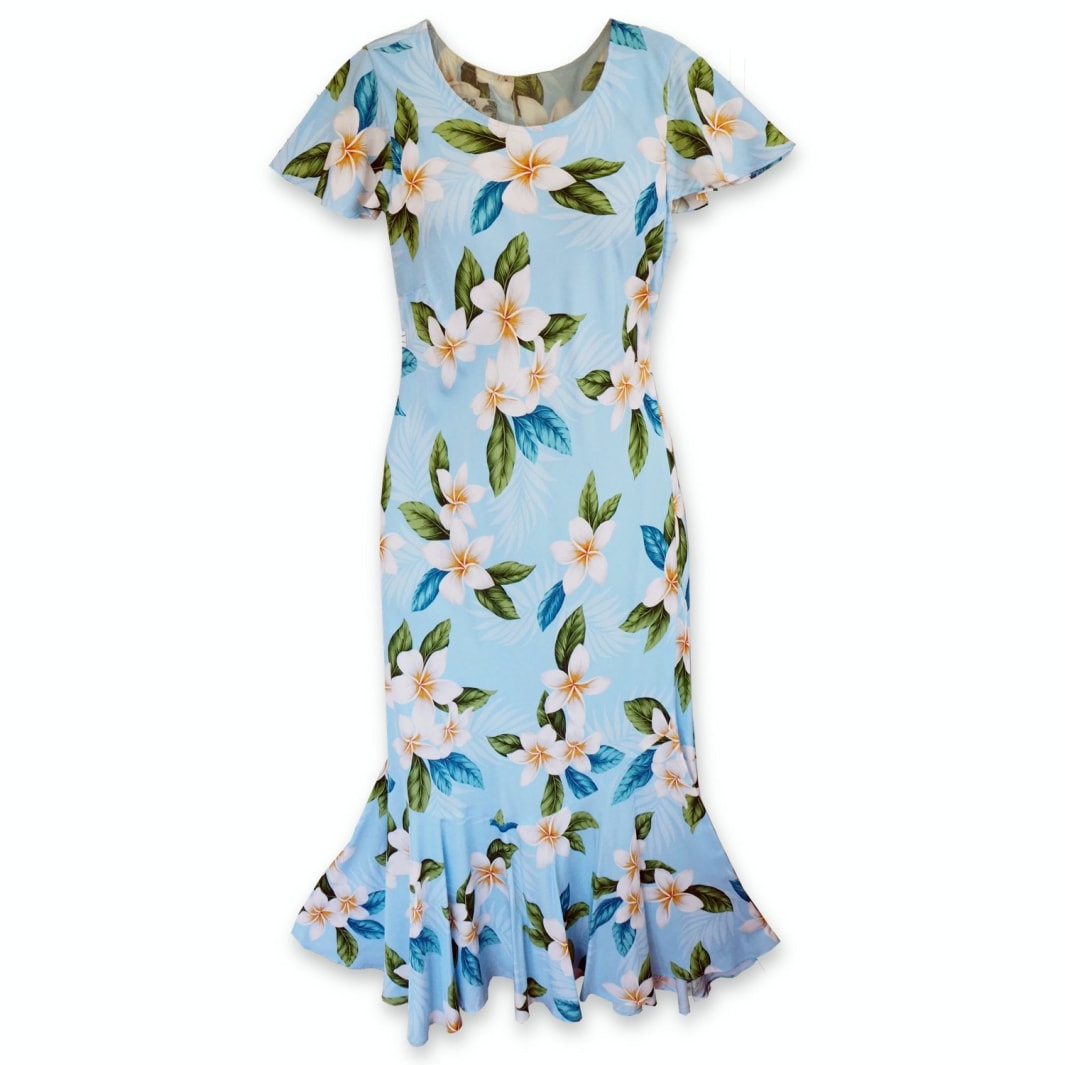 escape hawaiian malia dress | hawaiian dress midi midlength
