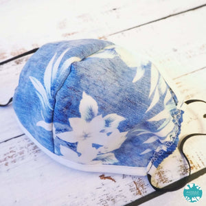 Hawaiian Face Mask for Adults ~ Blue Flower Power | face mask