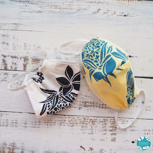 Hawaiian Face Mask for Adults ~ Yellow Ukulele | face mask