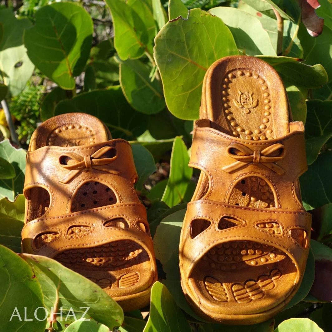 golden brown bow - pali hawaii sandals | hawaiian sandals pali hawaii flip flops
