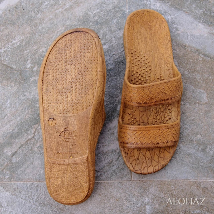 golden brown classic jandals® - pali hawaii Jesus sandals | hawaiian sandals pali hawaii flip flops