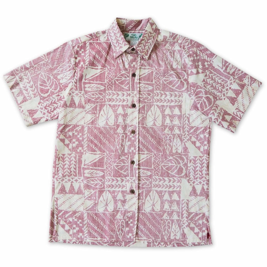haleiwa red reverse print hawaiian cotton shirt | hawaiian shirt men