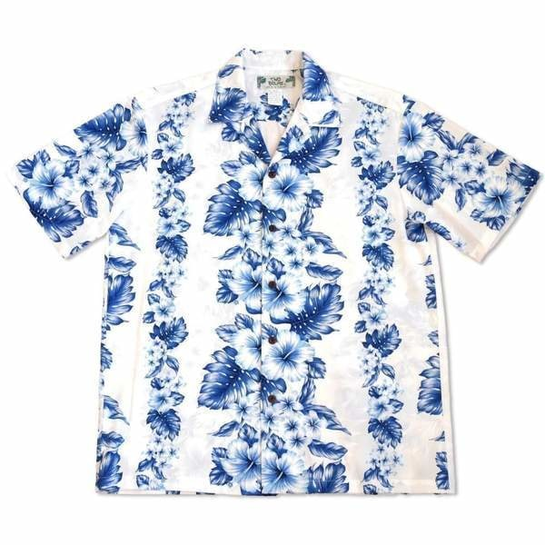 hanalei white hawaiian cotton shirt | hawaiian shirt men