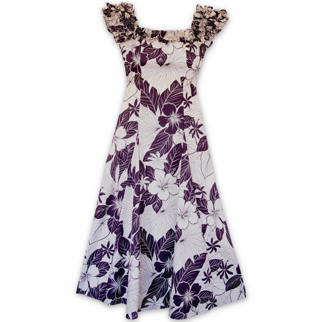 haven purple hawaiian leilani dress | long dress hawaiian