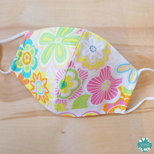 Hawaiian Face Mask + Adjustable Loops ~ Pink Daisy Pop | face mask
