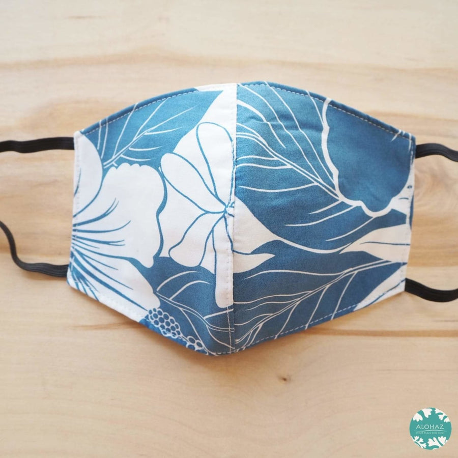 Hawaiian Face Mask ~ Blue Haven | face mask