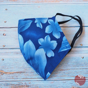 Hawaiian Face Mask ~ Blue Waiea | face mask