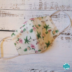Hawaiian Face Mask ~ Cream Hula Girl | face mask