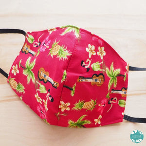 Hawaiian Face Mask ~ Red Hula Girl | face mask