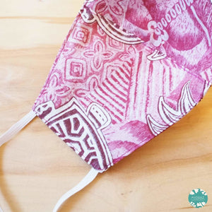 Hawaiian Face Mask ~ Red Kaena | face mask