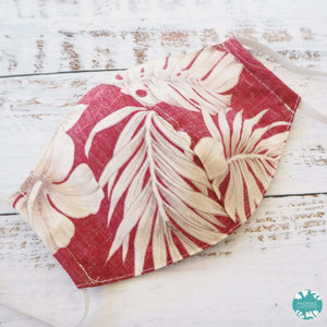 Hawaiian Face Mask ~ Red Olomana | face mask