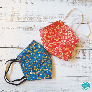 Hawaiian Face Mask ~ Red Waikiki | face mask