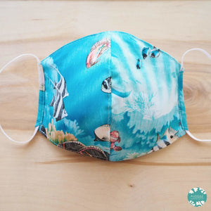 Hawaiian Face Mask ~ Teal Coral Reef | face mask