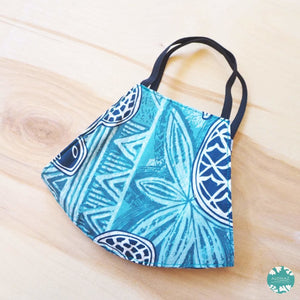 Hawaiian Face Mask ~ Teal Kaena | face mask