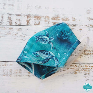 Hawaiian Face Mask ~ Teal Sea Life | face mask
