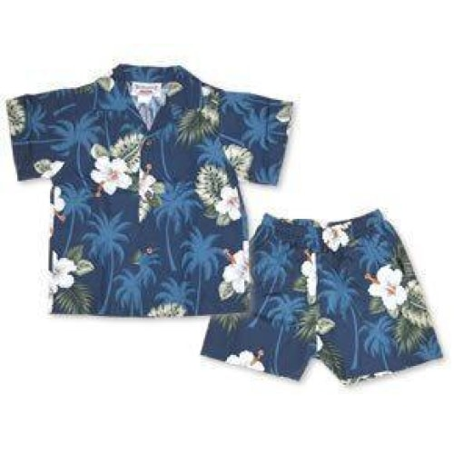 hilo hawaiian boy cabana set | hawaiian boy shirt cabana