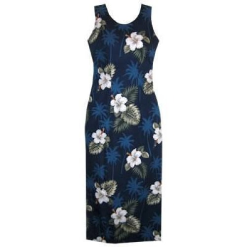 hilo hawaiian long tank dress | long dress hawaiian
