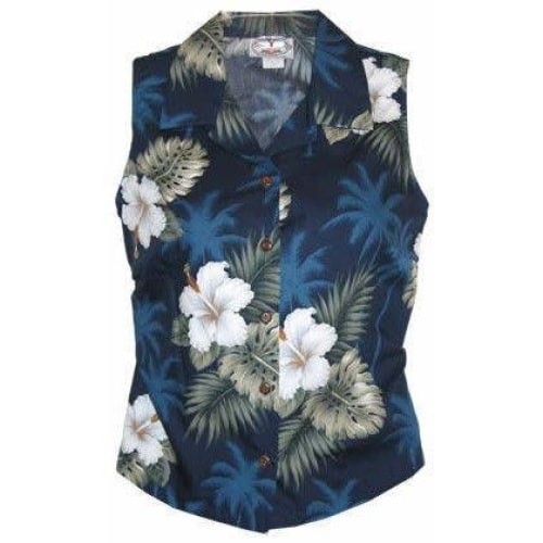 hilo hawaiian sleeveless blouse | women blouse hawaiian